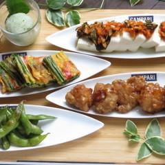 夏のおつまみに!夏ご飯に!黒酢チキン・韓国ニラ焼き・中華豆腐など全7品