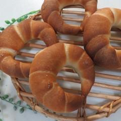ランチ付☆白神こだま酵母で作る「クレッセント(塩パン)」