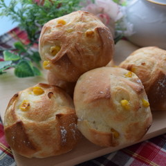 ■基本レッスンメニュー♪コーンフランスパン&黒糖クルミパン