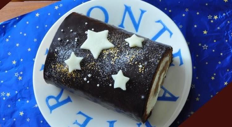 天の川のグラッサージュロールケーキ