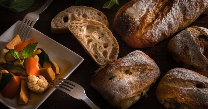 自家製酵母パン!夏でも簡単リュスティック&グレープフルーツ、ミント酵母