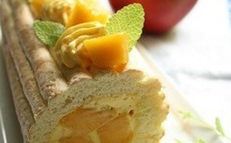 「アップルマンゴー」で作るロールケーキ、今年も再登場/24cm1本