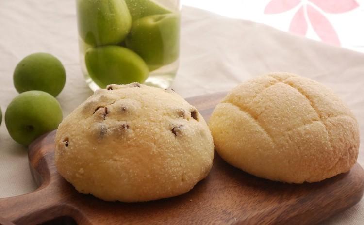 ★自家製酵母:梅酵母★メロンパン&チョコチップメロンパン