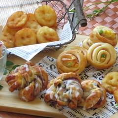 【親子】レンジで発酵調理パンと材料5つのデニッシュ&ポテト・アイスバー