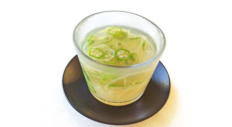 オクラと生姜の冷製スープ