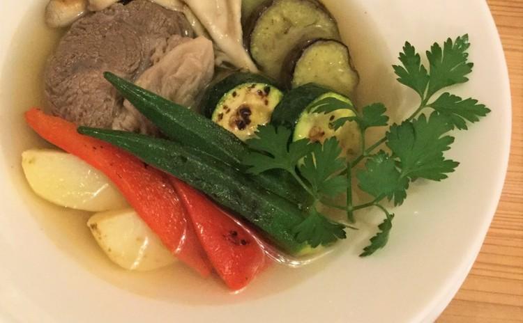 野菜たっぷり、夏仕立てのポトフとスパイス香るイワシのエスカベッシュ+α