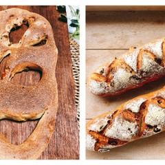 2種類のハード系のパン!!香草フ―ガス&ワインブレッド