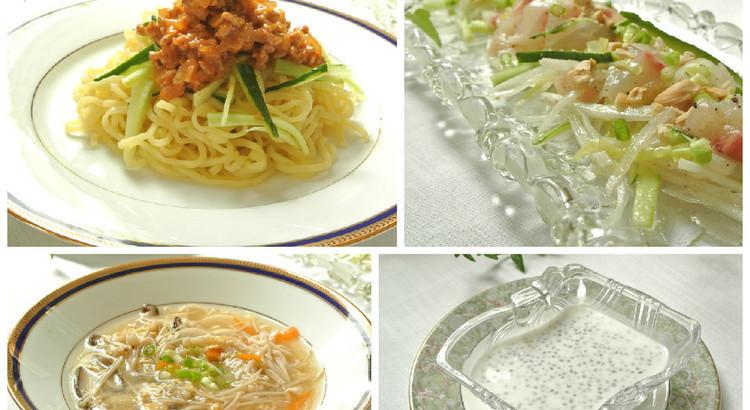お家で美味しいジャージャー麺と酸辣湯を作りましょう♫