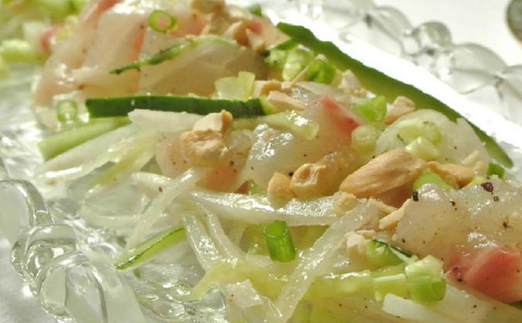 真鯛の中華風サラダ