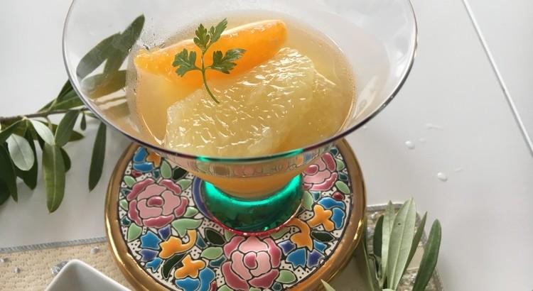 グレープフルーツとバレンシアオレンジのマリネ