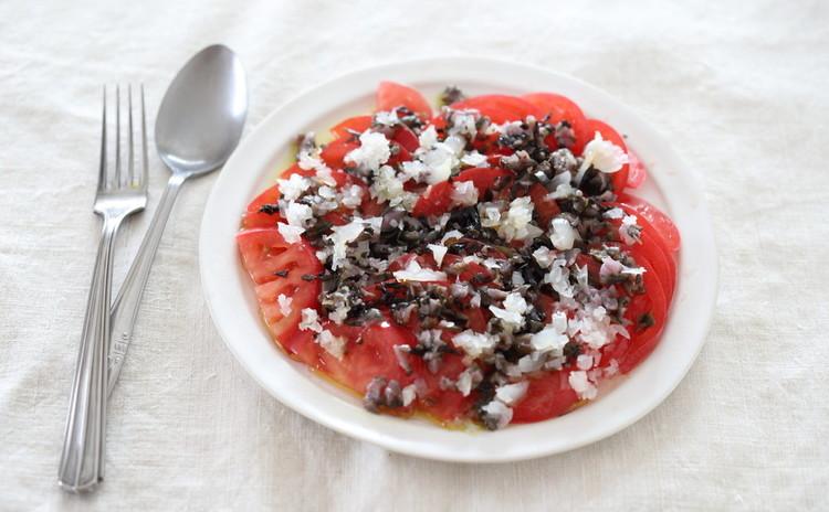 トマトのカルパッチョ