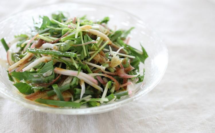 かまぼこと薬味サラダ