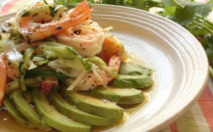 エビとアボカドのセビ―チェ(冷製サラダ)