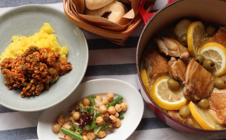 夏に食べたいモロッコ鶏とキーマカレー