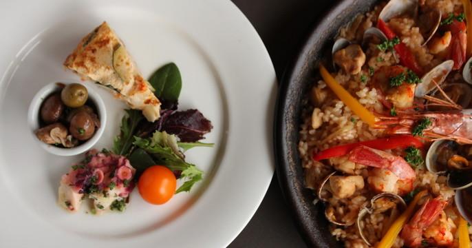 パエリアと三種の前菜で気分は地中海!  クリナップ新宿ショールーム