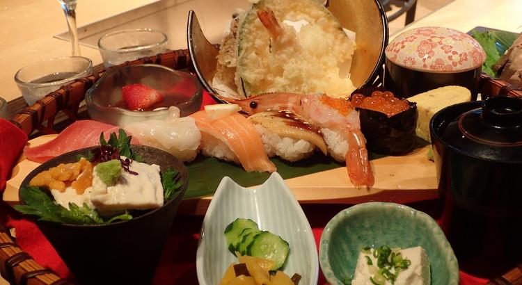 特製 花かご御膳の食材と日本酒との相性