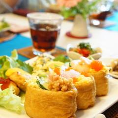 リクエスト和食レッスン*『彩りお稲荷さん他4品』&『苺のマカロン』