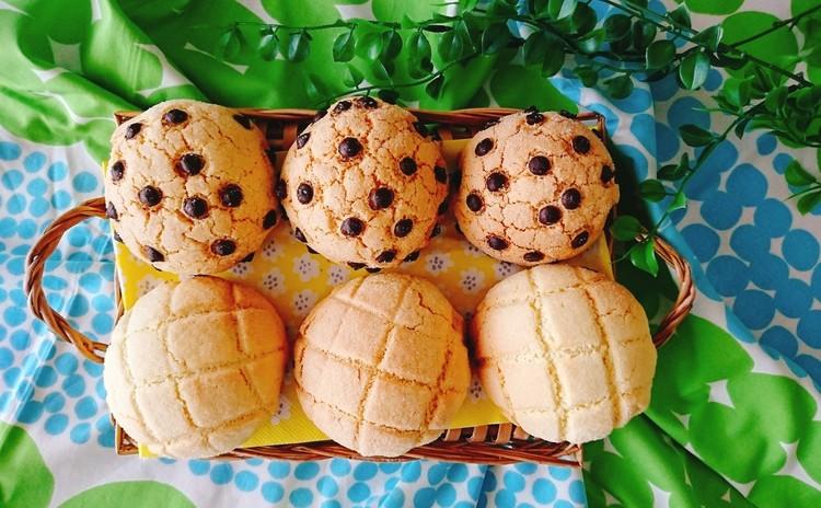 ひとつの生地から作る2種のメロンパン