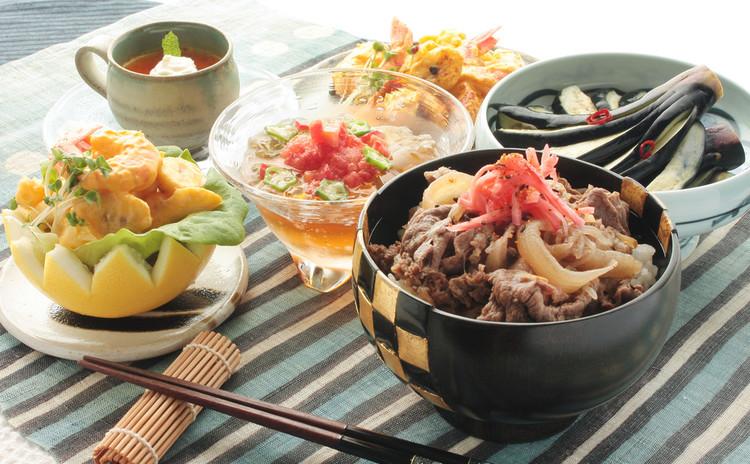 丼ぶり、フレンチ、清涼和食!真夏の美味しさ欲張りコラボレーション献立。