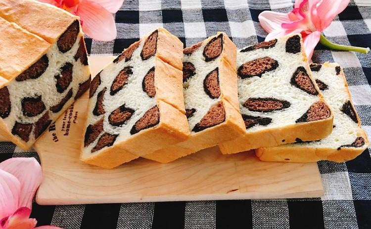 ヒョウ柄食パンときな粉プリン