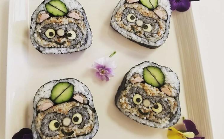 たぬきの巻き寿司