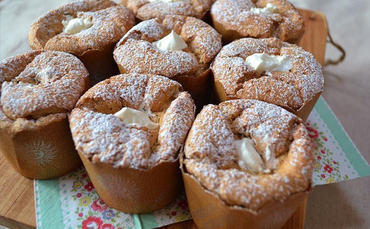 いちじくのパウンドケーキ&紅茶とチョコのカップシフォンケーキ&プリン