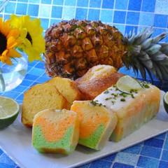 3種の夏の焼き菓子~ライム&パイナップル&ココナッツのケーキたち!