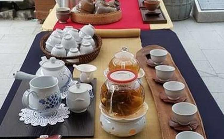 趙先生お勧めの煎茶の試飲