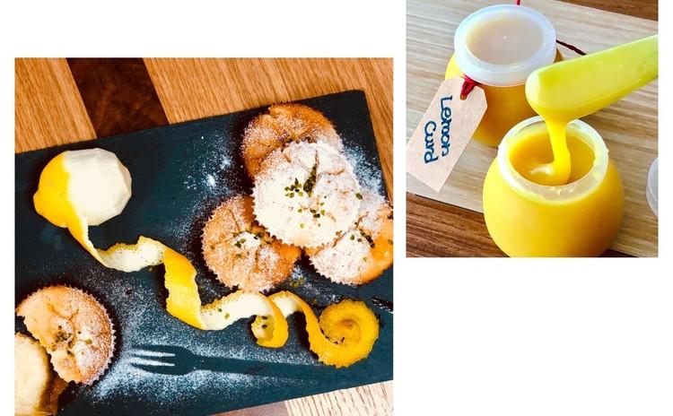 7,8月小麦,卵,乳製品不使用のレモンカードマフィン