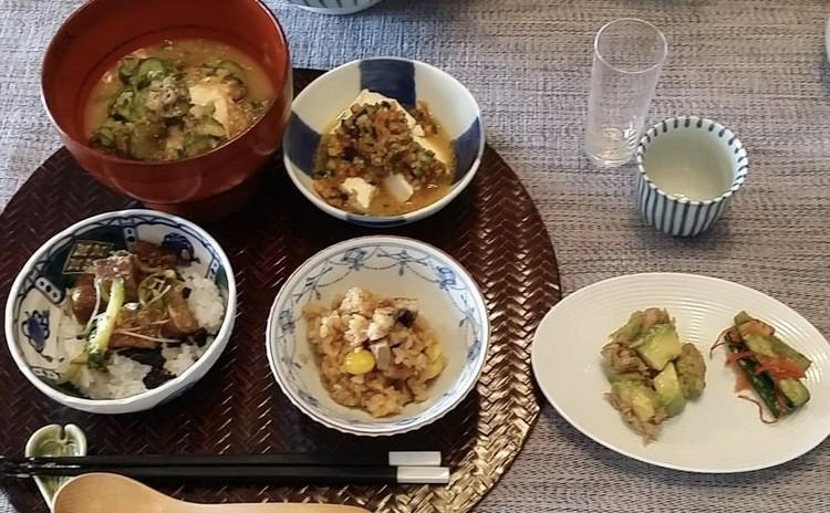 火を使わない料理 〜 冷汁・鯵のピリ辛丼・鰻のおこわ・XO醬豆腐 他〜