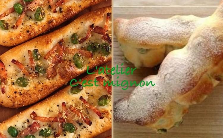 3分こねて本格パン!もっちり枝豆パン&カリッとバトン+枝豆サワースープ