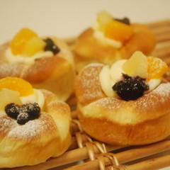 【ランチ付】可愛い夏パン♪フルーツチーズブレッド&ゆで卵の総菜パン