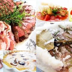 豚塩釜焼き3種の味❀つるぷよニョッキとガンボ、クラフティ他✿お土産付