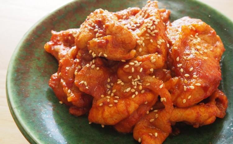 豚肉のコチュジャン炒め