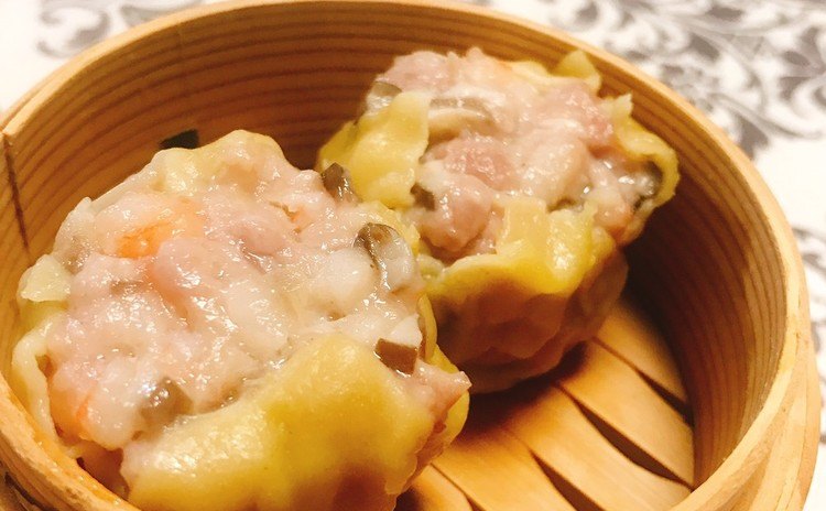 同じ皮で作れる蝦シュウマイ、餃子、ワンタン