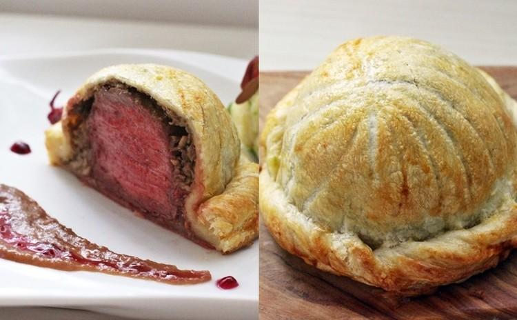ビーフウェリントン~牛ヒレのパイ包み焼き ポートワインソースを添えて