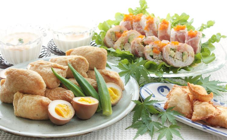 優しさ溢れるいなり寿司と、ちょっとリッチで楽しいカリフォルニアロール。