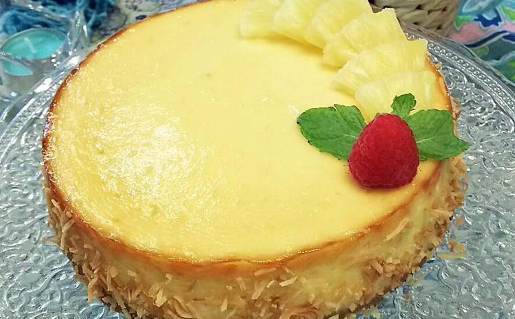 フードプロセッサーで作る夏に美味しい冷た~いトロピカルチーズケーキ♪