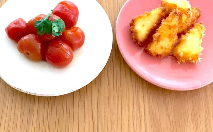 トマトの紅茶コンポートとサクサクとろーりチーズフライ