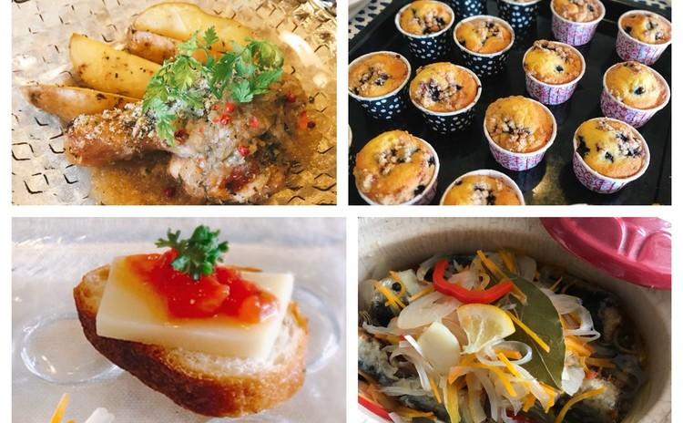 鰯のエスカベッシュ・若鶏のディアブルソース・フルーツクランブルケーキ