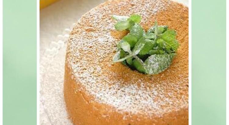 レモンとミントの米粉シフォンケーキ