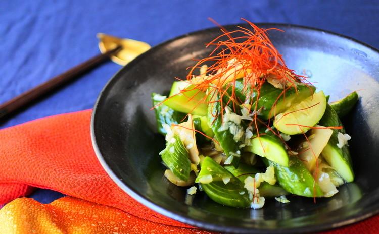 きゅうりとザーサイの葱サラダ