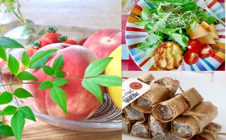 疲労回復の桃で夏の手作り酵素とフルーツバー作り