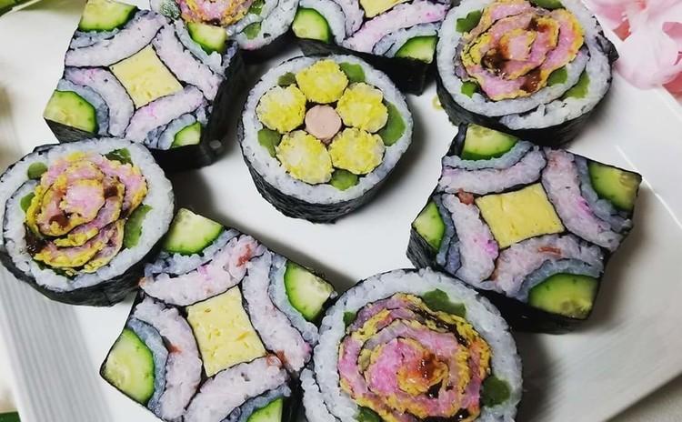 断面の綺麗な飾り巻き寿司レッスンpart②(試食・お土産つき)