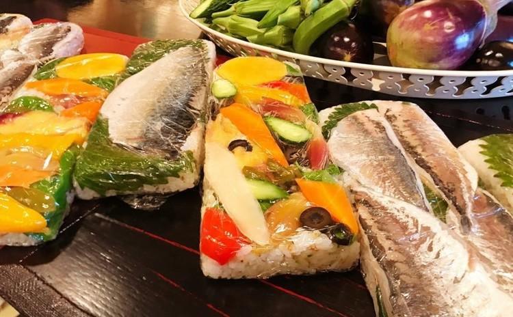 夏野菜で押し寿司ワークショップ