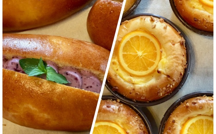 2種のフルーツでキュートなスイーツパン!
