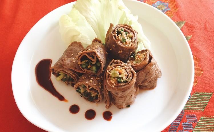 〜夏に美味しい韓国料理〜キンパ・肉巻き・ナムルetc