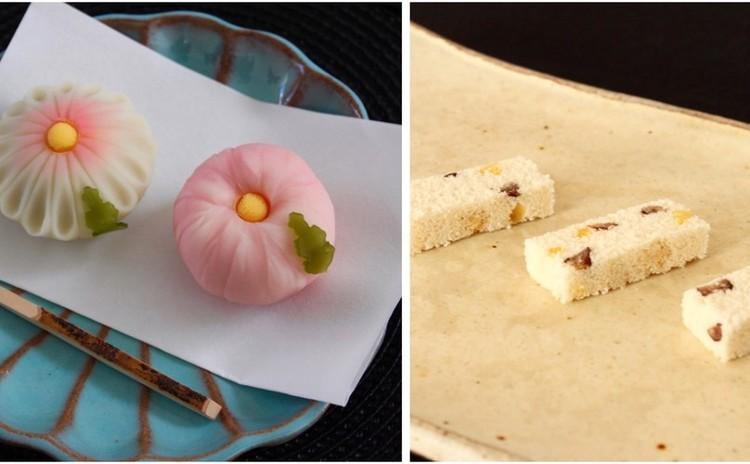 9月和菓子「練切2種♪飾り菊と絞り菊」「ラム栗と大納言甘納豆の押物」