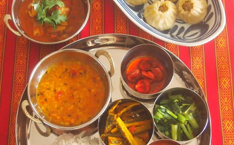 酷暑を乗り切る!!ネパール料理☆お豆と野菜たっぷりなスパイシーランチ☆