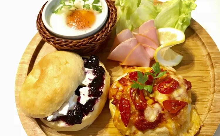 ベーグル&ピザ&エッグスラット&スクランブル他 ステキな朝食を♪